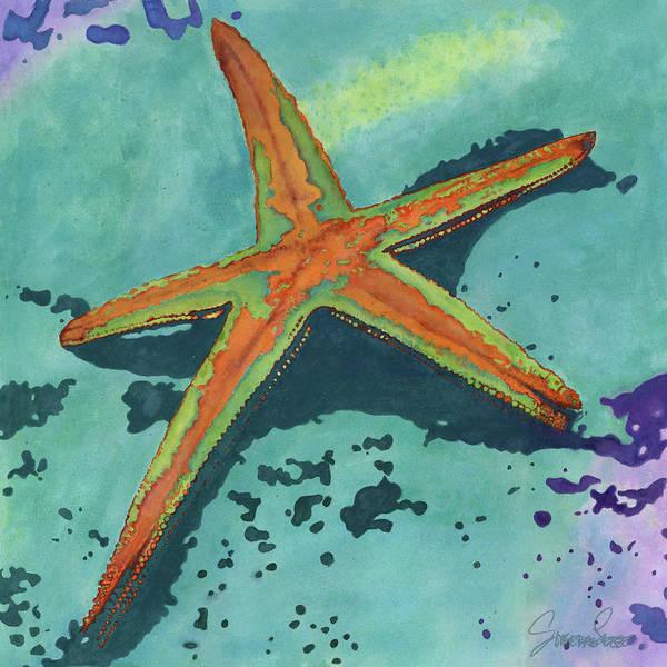 Laguna Beach Painting - Illuminating Starfish by Sonserae Leese