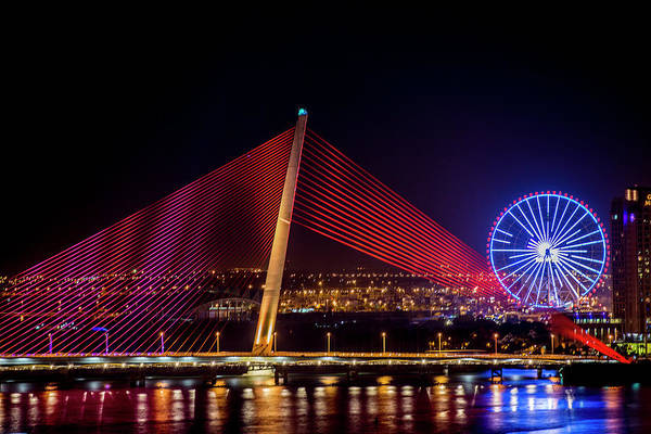 Wall Art - Photograph - Illumination Of Tran Thi Ly Bridge by Tom Norring