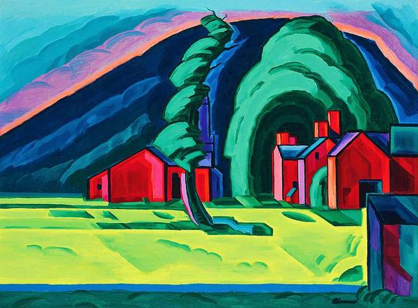 Wall Art - Painting - Illusion Of A Prairie, New Jersey - Digital Remastered Edition by Oscar Bluemner