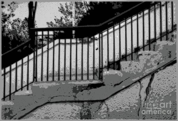 Wall Art - Digital Art - Franklin Ave Steps Minneapolis Illustration by Terry Carlson