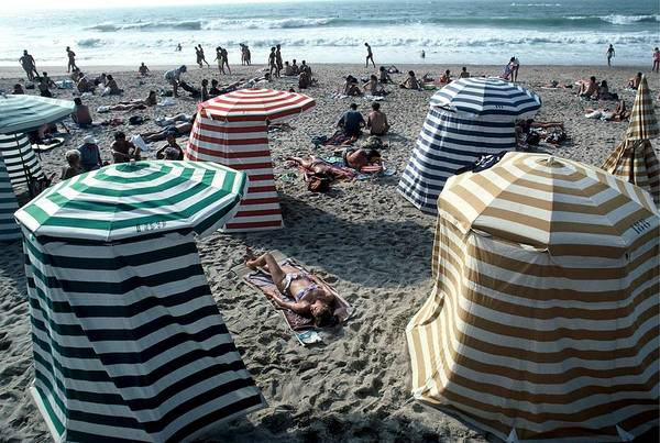 Photograph - Illustration Biarritz Beaches In France by Chip Hires