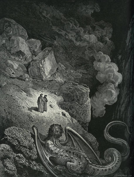 Wall Art - Painting - Illustration By Dore Scene From The Divine Comedy By Dante by Gustave Dore