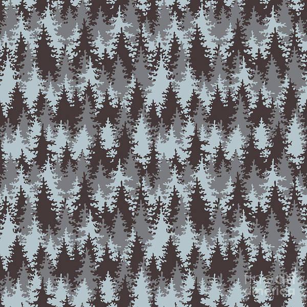 Conservation Wall Art - Digital Art - Illustration Coniferous Forest by Baksiabat