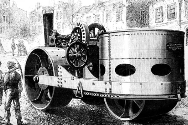 Wall Art - Photograph - Illustration Depicting A Steam Roller by Uig