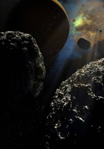 Photograph - Illustration Depicting An Exoplanet by Photon Illustration