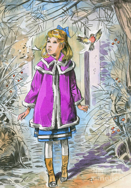 Wall Art - Painting - Illustration For The Secret Garden by English School