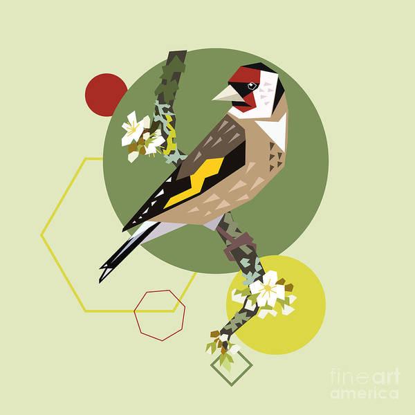 Art Form Digital Art - Illustration Of A Bird On Blooming by Radiocat