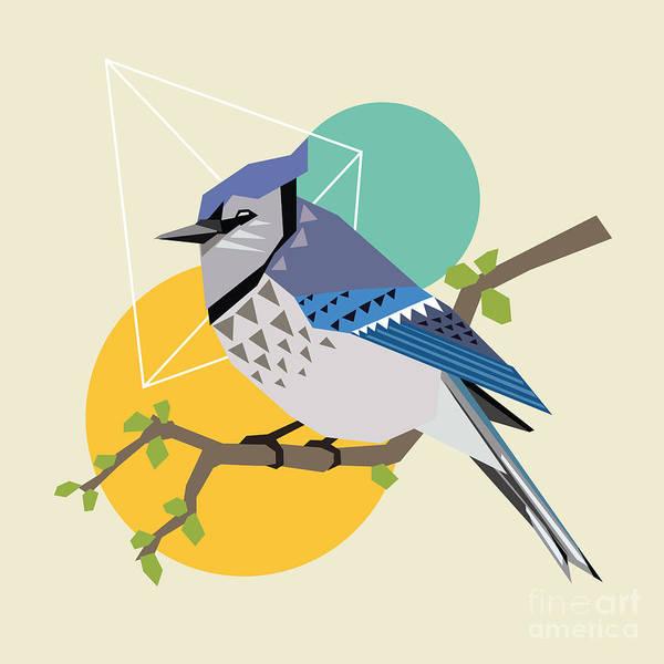 Art Form Digital Art - Illustration Of A Blue Bird On Branch by Radiocat