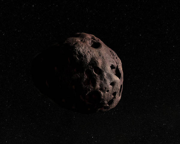 Photograph - Illustration Of A Single Asteroid by Photon Illustration