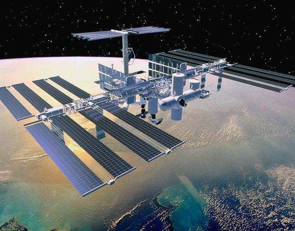 Space Exploration Digital Art - Illustration Of A Space Station In Orbit by Stocktrek