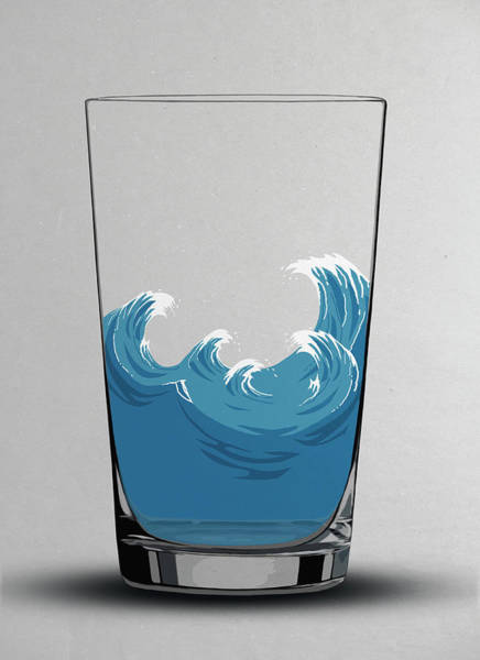 Freshness Digital Art - Illustration Of Choppy Waves In A Water by Malte Mueller