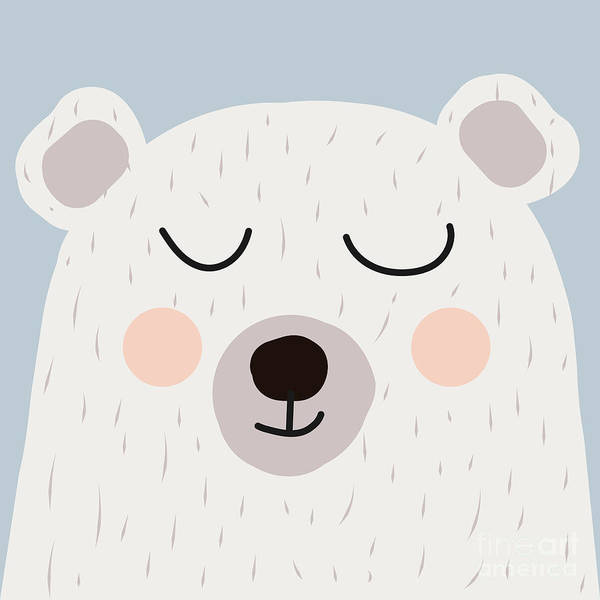 Interior Decoration Wall Art - Digital Art - Illustration Of Cute Bear by Guaxinim
