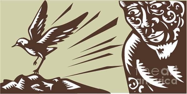 Mythology Wall Art - Digital Art - Illustration Of Samoan Legend God by Patrimonio Designs Ltd