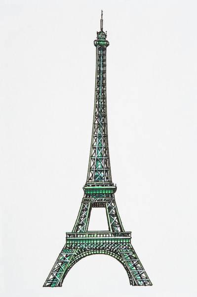 Exterior Digital Art - Illustration Of The Eiffel Tower by Dorling Kindersley