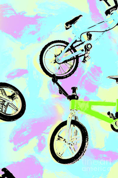 Illustrative Bike Pastel Art Print
