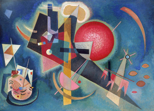 Constructivism Painting - Im Blau by Wassily Kandinsky