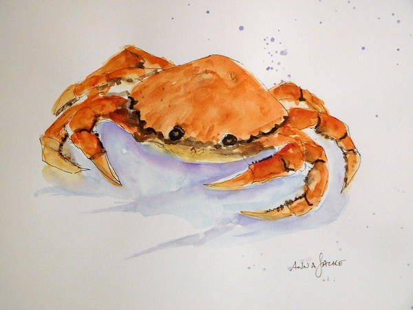 Painting - I'm Crabby by Anna Jacke