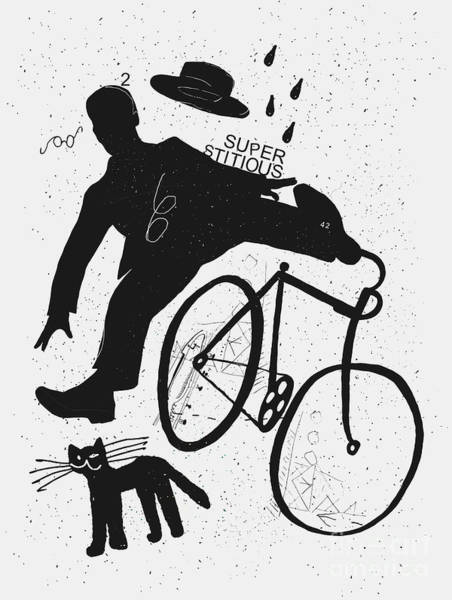 Adults Wall Art - Digital Art - Image Of A Cyclist Who Was Scared Of A by Dmitriip