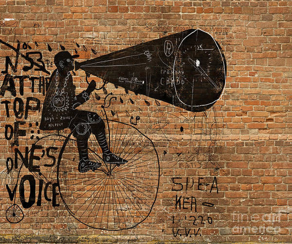 Wall Art - Digital Art - Image Of A Man Who Rides A Bike And by Dmitriip