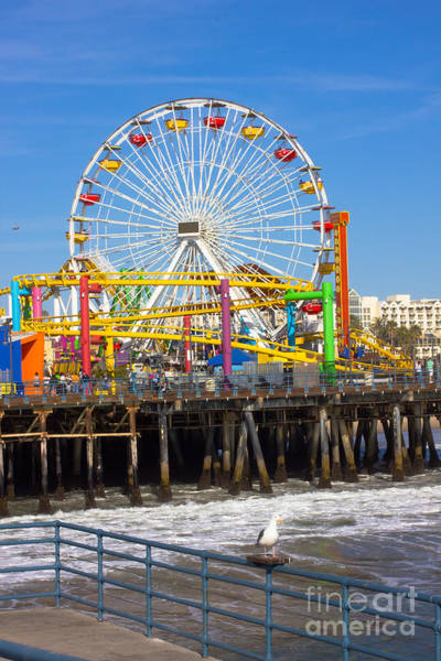 Ferris Wall Art - Photograph - Image Of A Popular Destination The Pier by Littlenystock