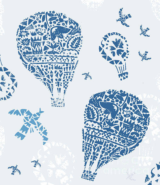 Air Balloon Wall Art - Digital Art - Image Of Balloons In The Style Of by Dmitriip