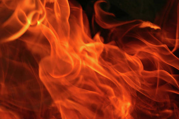 Inferno Wall Art - Photograph - Image Of Fire On Black Background by Narcisa