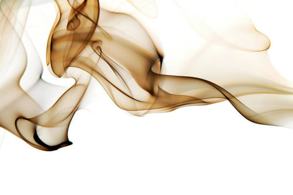 Texture Photograph - Image Of High Contrast Smoke Up Against by Guarosh
