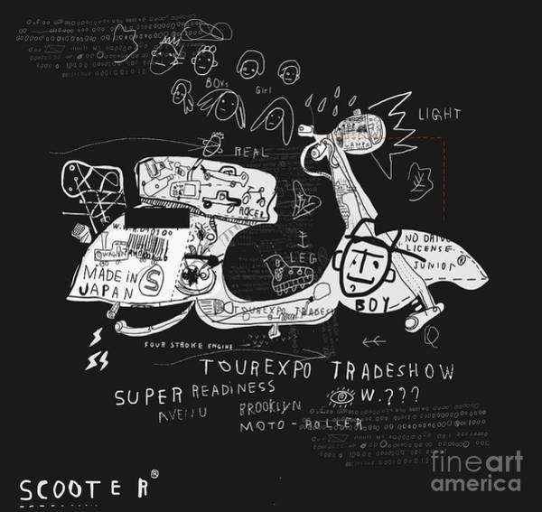 Wall Art - Digital Art - Image Scooter Which Has No Wheels by Dmitriip
