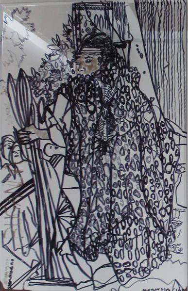 Painting - Imagined  Kabaka Ssemakokiro Twesiimye Nnyo by Gloria Ssali