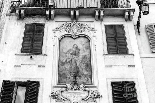 Photograph - Immaculate Conception Of Mary At Piazza Navona In Rome by John Rizzuto