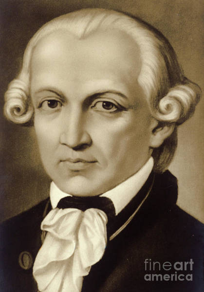 Wall Art - Painting - Immanuel Kant 1724-1804, German Philosopher And Writer by German School