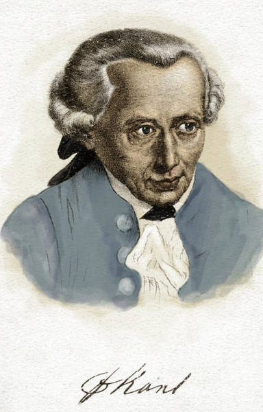 Wall Art - Painting - Immanuel Kant, German Prussian Philosopher, 22 April 1724-12 February 1804 by German School