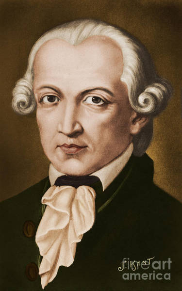Wall Art - Painting - Immanuel Kant, Philosopher, Born In Konigsberg, Germany by German School