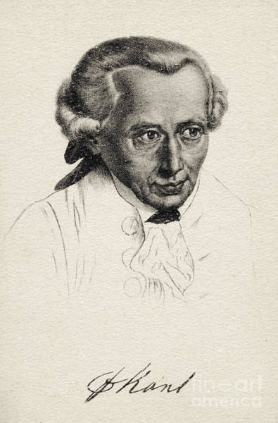 Wall Art - Drawing - Immanuel Kant Prussian Philosopher by German School
