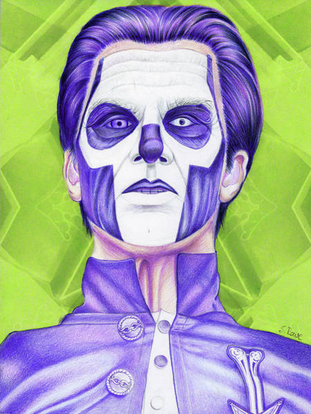 Frontman Wall Art - Drawing - Imperial Violet Papa by Shawna Rowe