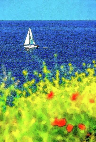 Wall Art - Digital Art - Impression Of Sailing On The Aegean Sea by Dimitris Sivyllis