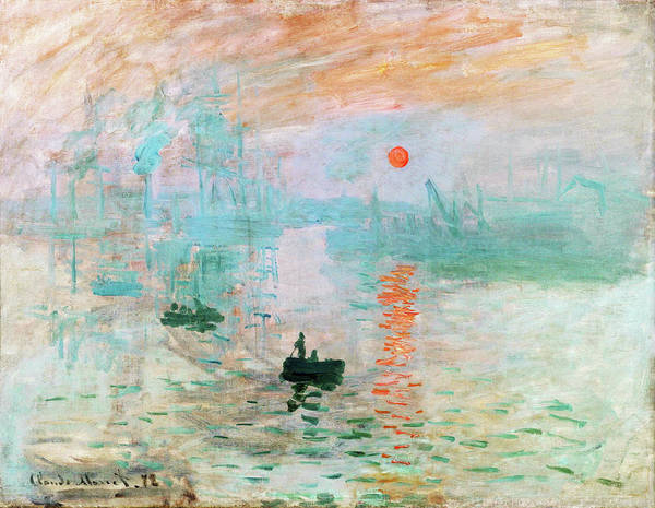 Riverbed Painting - Impression, Sunrise - Digital Remastered Edition by Claude Monet