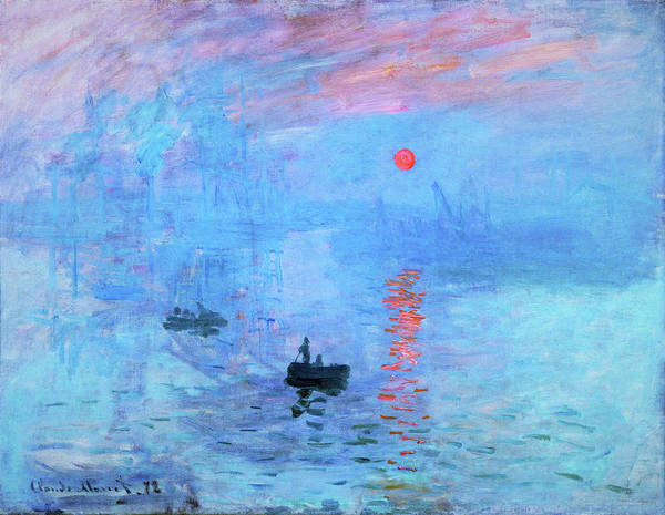 Riverbed Painting - Impression, Sunrise - Original Bluecolor Edition by Claude Monet