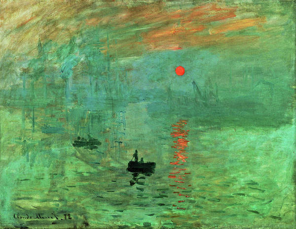 Riverbed Painting - Impression, Sunrise - Original Greencolor Edition by Claude Monet