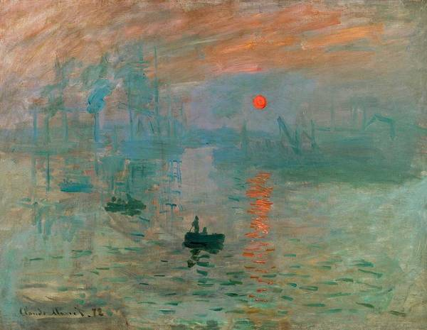 Wall Art - Painting - Impression, Sunset by Claude Monet