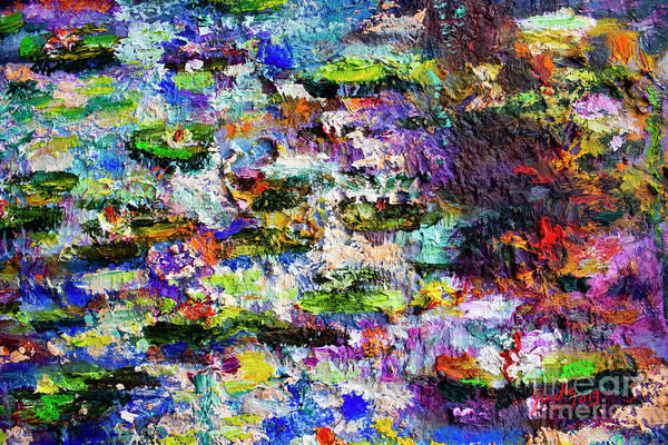 Painting - Impressionist Lily Pond 2 by Ginette Callaway