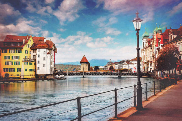 Wall Art - Photograph - Impressions Of Lucerne Switzerland by Carol Japp