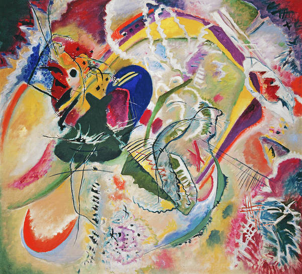 Wall Art - Painting - Improvisation 35, by Wassily Kandinsky