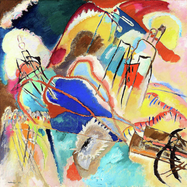 Wall Art - Painting - Improvisation No. 30, Cannons - Digital Remastered Edition by Wassily Kandinsky