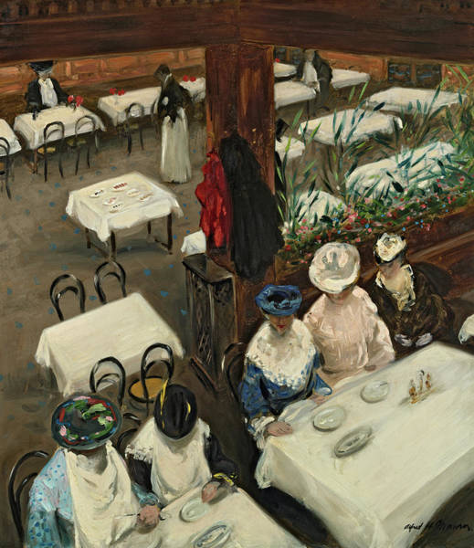 Parisian Cafe Painting - In A Cafe by Alfred Henry Maurer
