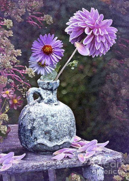 Jug Digital Art - In A Purple Garden by J Marielle