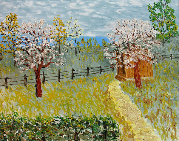 Wall Art - Painting - In Apple Blossom Time by Danny Lowe