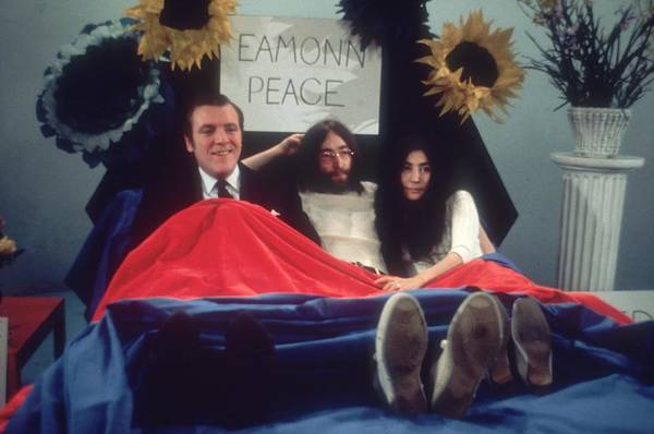 John Lennon Photograph - In Bed For Peace by Keystone