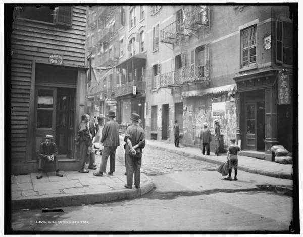 China Town Painting - In Chinatown  New York 1900 by Celestial Images