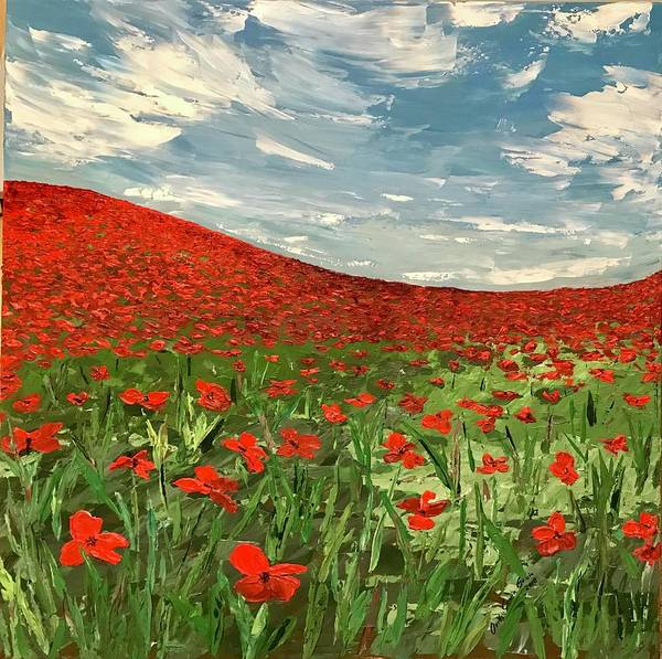 Painting - In Flanders Fields The Poppies Blow  by Ovidiu Ervin Gruia